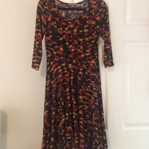 NY Collection fall colors skater dress
